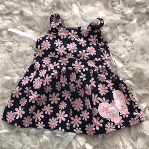 Carter's just one yellow butterfly dress 3 months